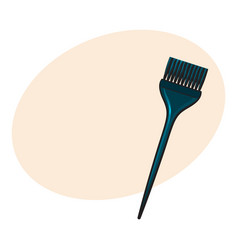 color mixing plastic hairdresser brush hairbrush vector image vector image