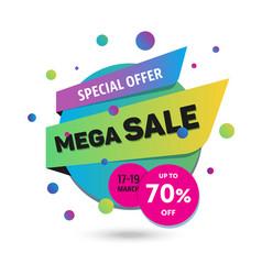 Mega sale - modern of discount vector