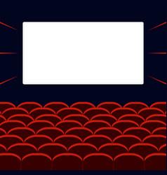Movie cinema hall vector