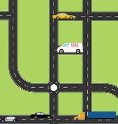 Road top view vector image