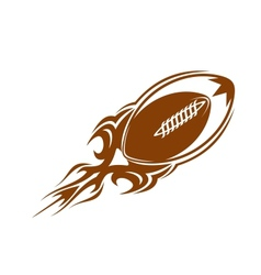 Rugby ball icon in brown vector image vector image