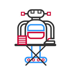 technological robot housewife making ironing vector image vector image