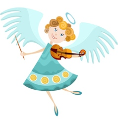 angel cartoon vector image vector image