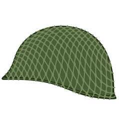camouflaged military helmet vector image vector image