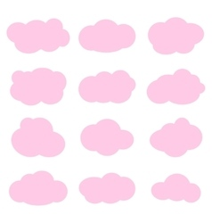 clouds collection vector image