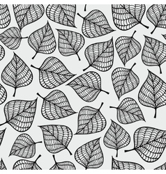 Decorative seamless black and white pattern with vector image