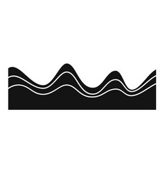 equalizer sound effect icon simple black style vector image