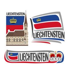 logo for liechtenstein vector image