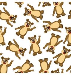 Seamless Funny Cartoon Bear vector image vector image