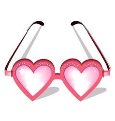 Valentine pink glasses vector image vector image