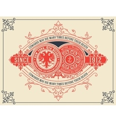 Vintage card design with floral details vector image vector image