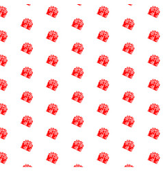 christmas gift box background vector image vector image