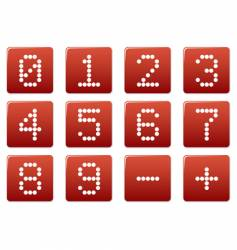 digits square icons vector image vector image
