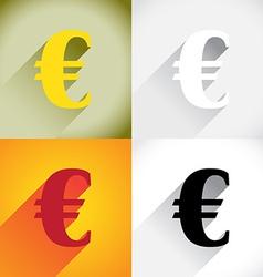 Euro currency symbol vector image