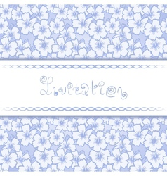 Invitation card with floral background vector image vector image