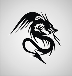 Tribal Flying Dragon vector image