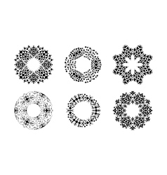 Ethnic ornamental cirular frames set vector image vector image
