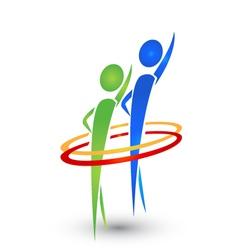 Hello people logo vector image vector image