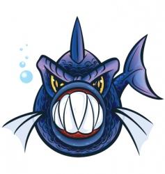 piranha vector image vector image