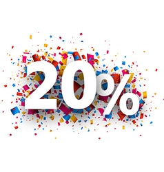 20 sale sign vector image