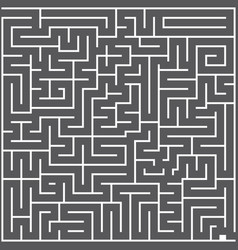 A whie square labyrinth top view on dark gray vector