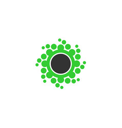 Abstrac dot circle icon vector