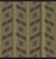 abstract gold 3d greek seamless pattern vector image