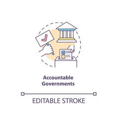 Accountable governments concept icon vector