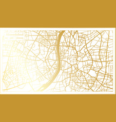 Ahmedabad india city map in retro style in golden vector
