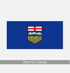 Alberta canada flag canadian province banner vector