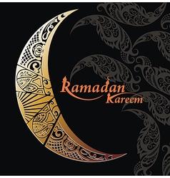 Arabic moon vector image