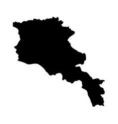 Armenia island map silhouette vector
