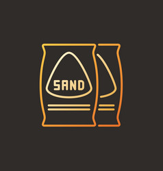 bags with sand colored outline icon or vector image