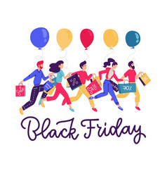 banner template for black friday sale people vector image