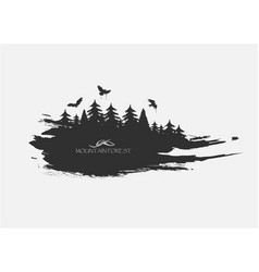 black spot watercolors flying birds from forest vector image