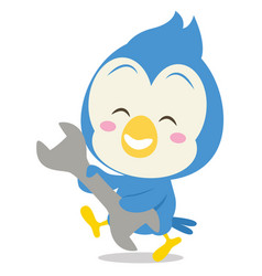 Blue jay with tool character vector
