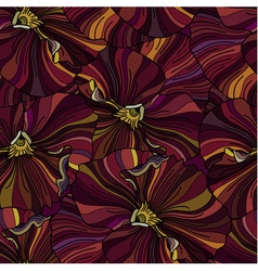 Bright pansy flowers seamless backround vector