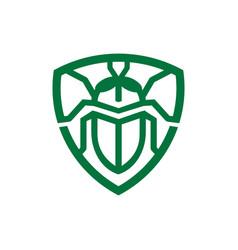 Bug pest control logo vector