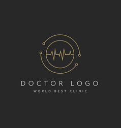 cardiology icon isolated on black background vector image