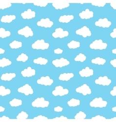 Cartoon Clouds Seamless Pattern vector