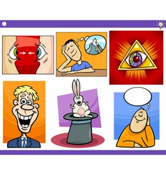 cartoon concepts and ideas set vector image
