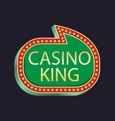 Casino party casino king vector