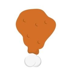 Chicken drumstick icon vector
