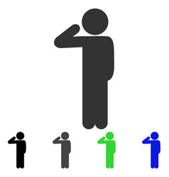 Child salute flat icon vector