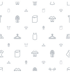 clothing icons pattern seamless white background vector image