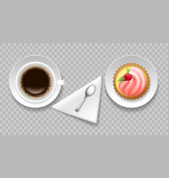 coffee cake top view vector image