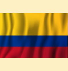 colombia realistic waving flag national country vector image