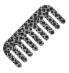 Comb mosaic of squares and circles vector