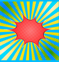 Comic abstract colorful concept vector