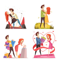 couple in love 2x2 design concept vector image
